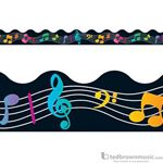 "Music Treasures Border ""Colorful Score"" 730005"