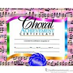 "Music Treasures Award Certificate ""Choral Achievment"" 900031"