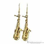 Aim Gifts Earrings Alto Saxophone Gold tone E67A