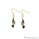 Aim Gifts Earrings 16th Note Dangle E83A
