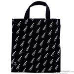 Aim Gifts Tote Bag Black with Violins Large 2330