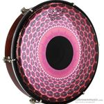 "Remo HD-9212-83SC020 12"" Red Radial Clear Tone Tablatone Series Frame Drum"