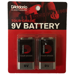 D'Addario 9V 2 Pack Batteries
