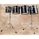 "Ludwig Concert Toms 10""/12""/13""/14"" w//Double Stands LECT04CC"