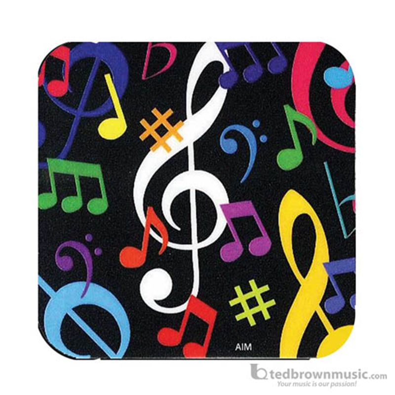 Ted Brown Music - Aim Gifts Coaster Music Symbols Square 29844