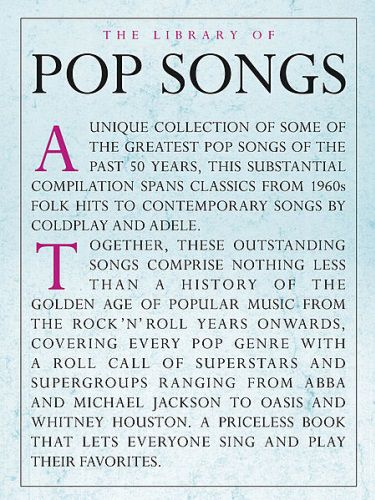 The Library of Pop Songs Piano/Vocal/Guitar