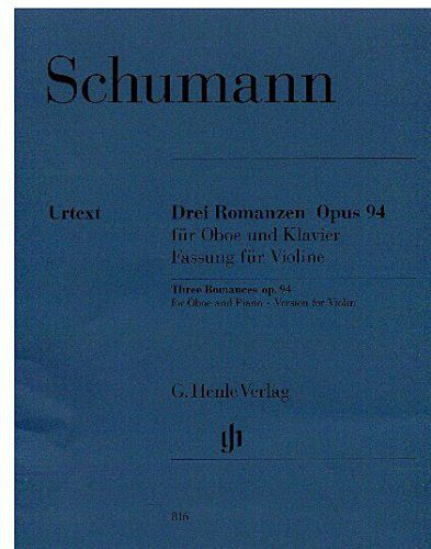 Schumann - 3 Romances for Oboe and Piano Op 94 (for Violin & Piano)