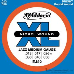 D'Addario Strings Guitar Electric XL Nickel Wound Jazz Medium EJ22