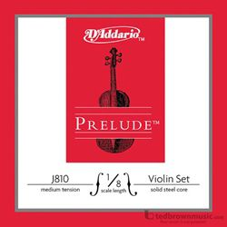 D'Addario Strings Prelude Violin Set 1/8  J8101/8M