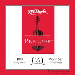 D'Addario Strings Prelude Violin Set 4/4 Heavy Tension J8104/4H