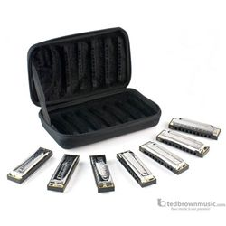 Hohner Blues Band Harmonica Set Of 7 With Case