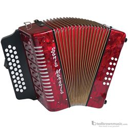 Santa Marsala 3807SM Diatonic G, C & F Accordion with Case