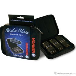 Hohner HBP HooDoo Blues Pack Set of Three With Case