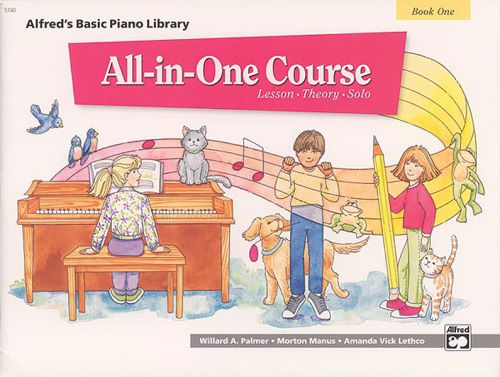 Alfred's Basic All-in-One Course, Book 1 [Piano]