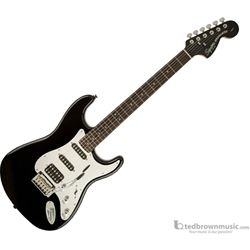 Squier Black and Chrome Standard Stratocaster HSS Electric Guitar