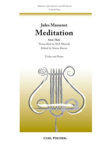 Massenet Meditation from Thais for Violin and Piano Violin-Pno