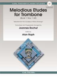 Melodious Etudes for Trombone Selected from the Vocalises of Marco Bordogni