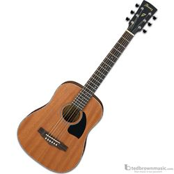 "Ibanez PF2MHOPN 3/4 Size ""Travel Guitar"" Open Pore Acoustic Guitar With Bag"