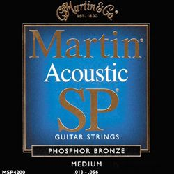 Acoustic Guitar Strings Martin SP Phosphor Bronze 13-56 Medium