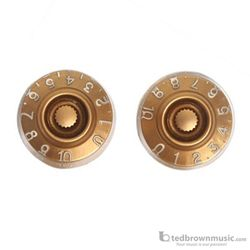 Retro Parts LP Speed Knobs 2 Pack Gold RP219G