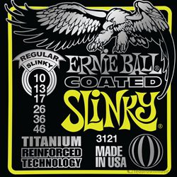 Ernie Ball Strings Guitar Regular Coated Slinky 3121