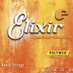 Elixer Strings Banjo 5 string Medium 11650