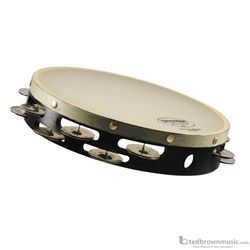 "Grover Percussion Tambourine Double Row German Silver 10"" T2/GS"