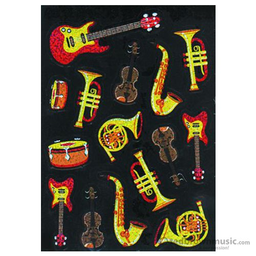 Music Treasures Stickers Sparkle Instruments