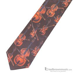 "Music Treasures Neck Tie ""String Instruments"" 130030"