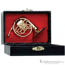 Music Treasures Miniature French Horn with Case 400005