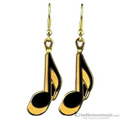 Harmony Earrings Eighth Note Gold FPE532G