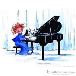 Music Treasures Note Cards Concert Pianist 310334