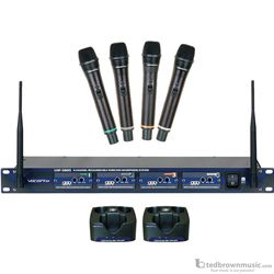 Vocopro UHF-5805 4-Channel Wireless System with Charger