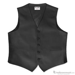 Tuxedo Park Vest Uniform Full Back Polyester Black CA700VU