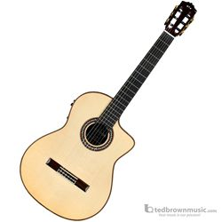 Cordoba GK Pro Negra Flamenco Body Acoustic-Electric Guitar