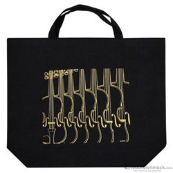 Aim Gifts Tote Bag Violin Black & Gold XL 2346