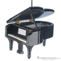 "Music Treasures Ornament Grand Piano Black 3"" 463090"