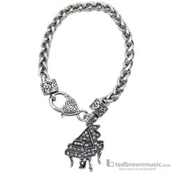 Aim Gifts Bracelet Piano Silver with Crystals 69650