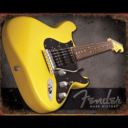 "Fender Sign Collectible ""Make History"" Tin 9190670606"