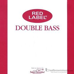 Super Sensitive 4RLBS Red Label Double Bass String Set