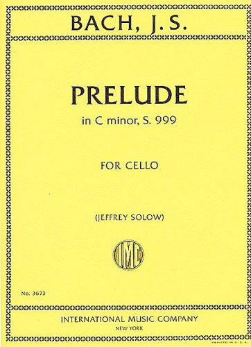 Bach Prelude in C Minor S 999 (Cello Piano)