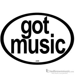 "Aim Gifts Bumper Magnet ""Got Music?"" 63522"