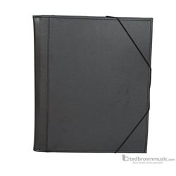 "Music Folder Protec Big Band Plastic Gusseted Pockets 14""x12.5"" Black"