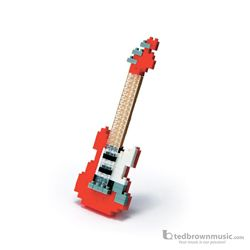 Nano Blocks 58136 Micro-Sized Red Electric Guitar
