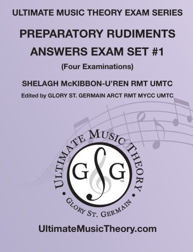 Ultimate Music Theory Prep Rudiments Exams Answers Set 1
