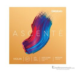 D'Addario Ascente Violin Strings Set 3/4 Medium Tension