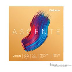 D'Addario Ascente Violin Strings Set 4/4 Medium Tension