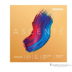 D'Addario Ascente Violin Strings Set 1/2 Medium Tension