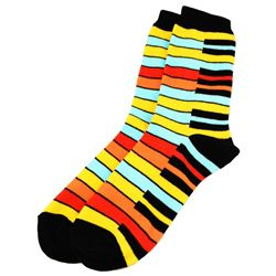Keyboard Socks: Yellow Rainbow