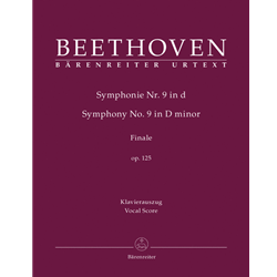 Beethoven - Symphony No. 9 Op 125 - Finale (Ode to Joy) (Vocal Score) SATB